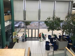 The foyer space