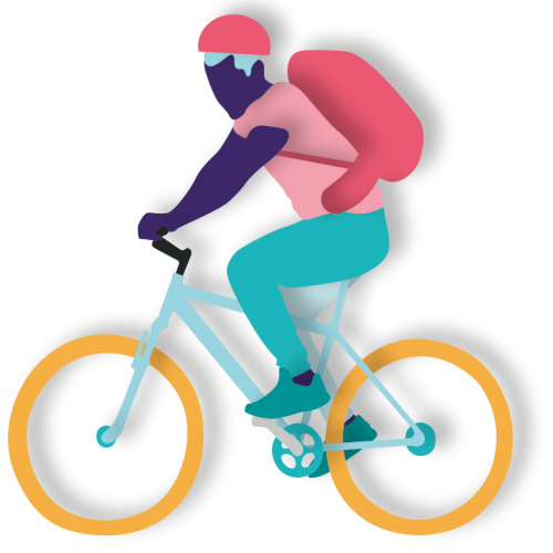 Illustration of person cycling