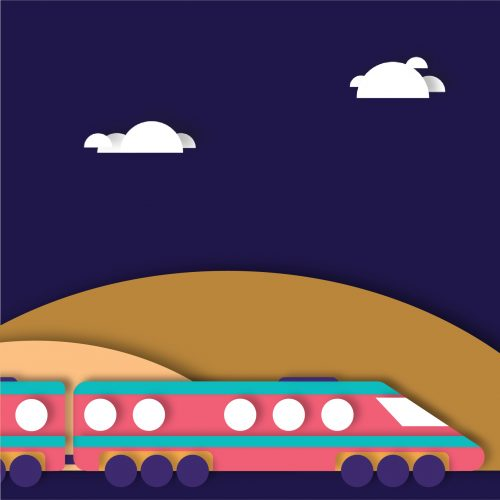 'Ticket off: start your to-do list on public transport' illustration